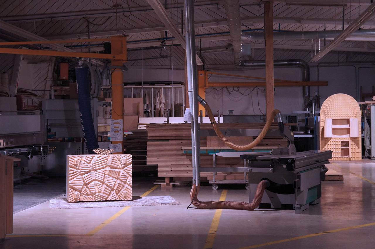 Madia Dolmen and Madia Intagliata (Wood furniture design)