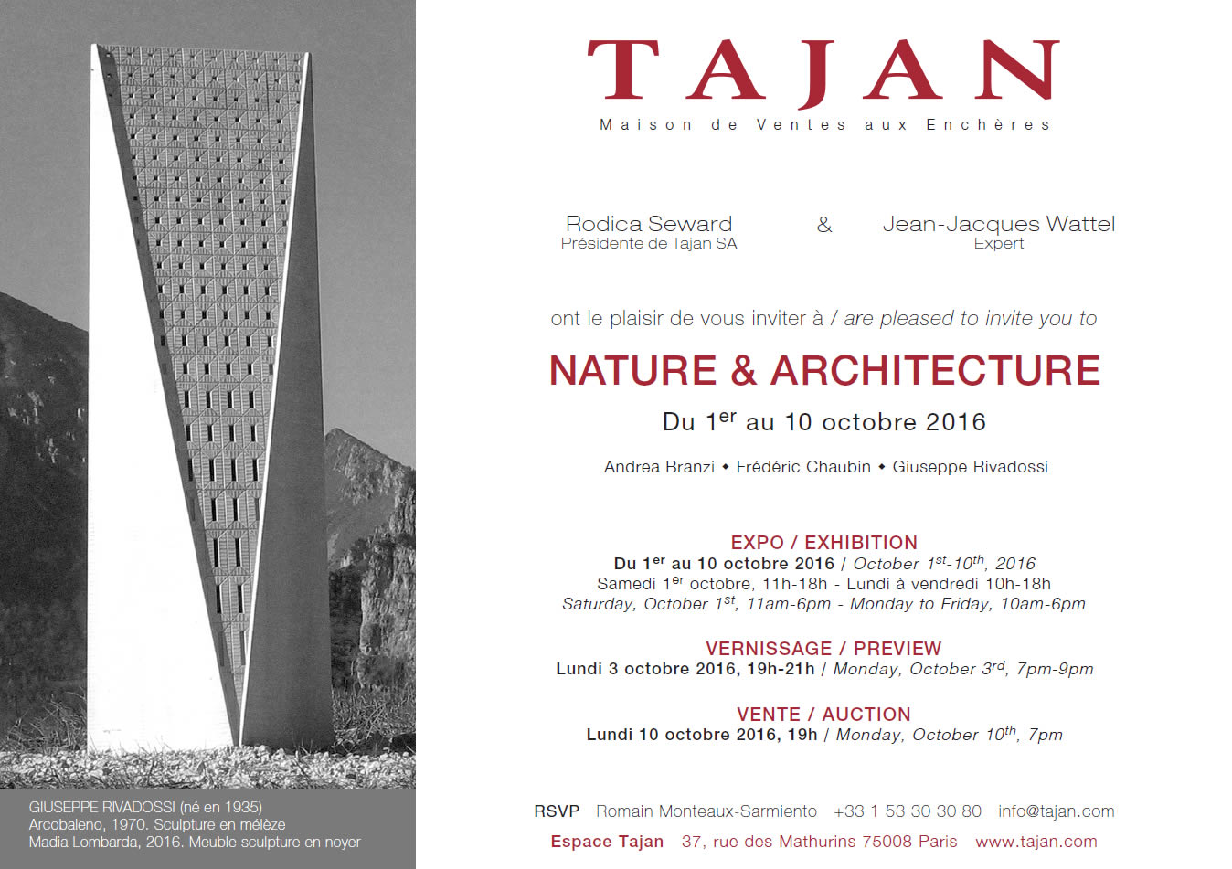Auction House Tajan (Paris) Nature&Architecture