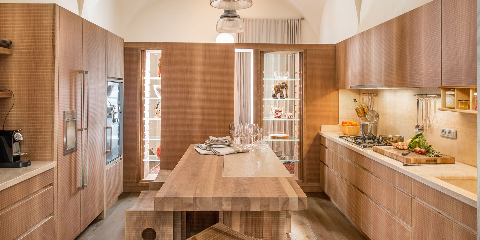 Kitchen in wood Cucine Habito