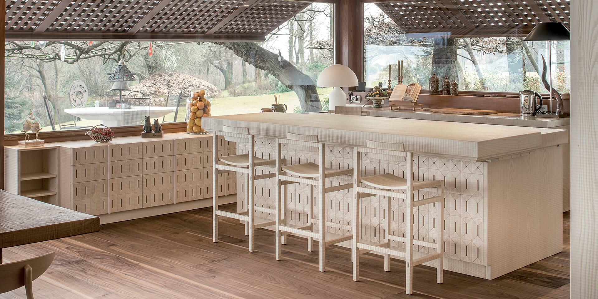 Kitchen in wood Cucine Habito