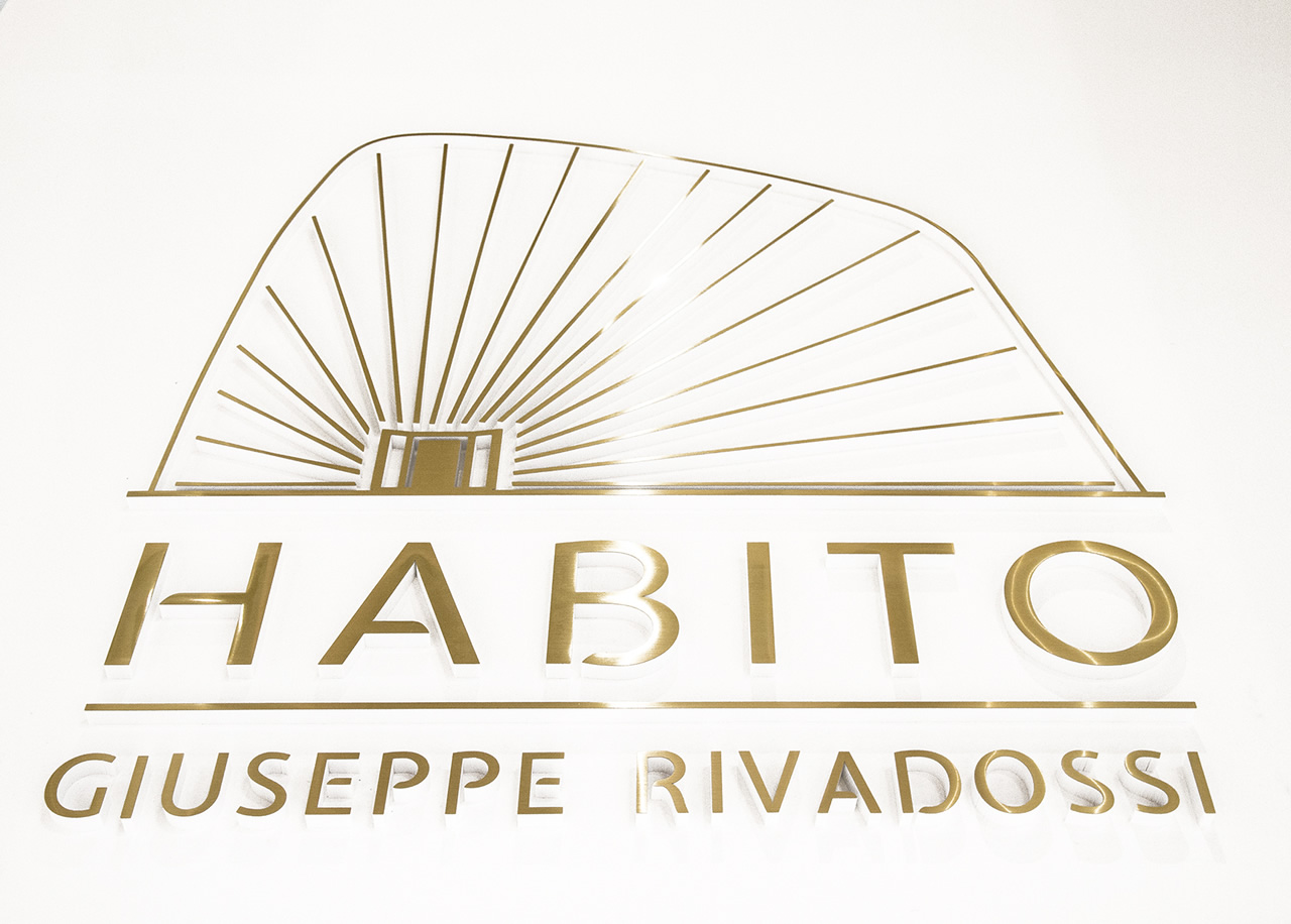 HABITO logo at the 2015 Milan Furniture Fair