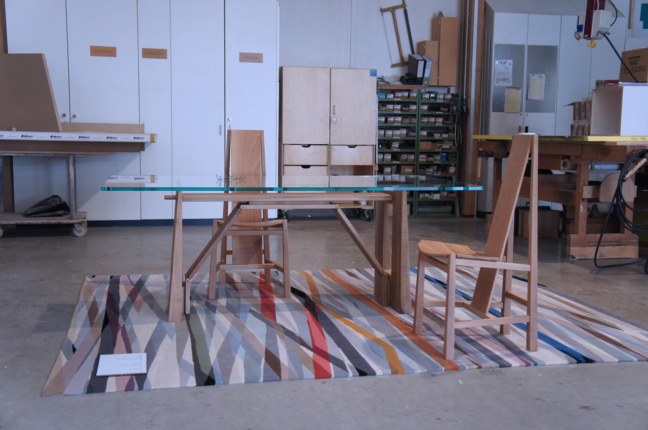 Perugino table and Vela chair